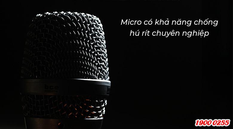 Micro không dây BCE UGX12 Plus Luxury khả năng chống hú tốt, dùng cho karaoke chuyên nghiệp tuyệt vời