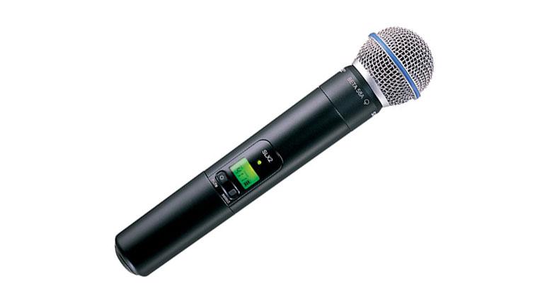 Tay micro Shure SLX24A/Beta58 bắt âm cực tốt