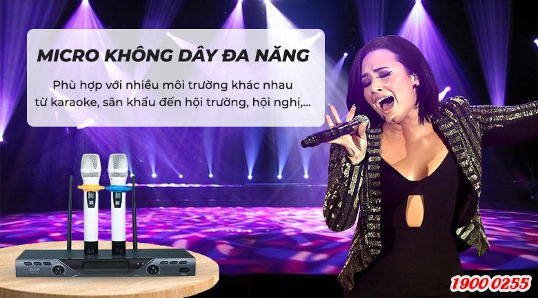 Micro không dây BCE U900 Plus X dùng cho karaoke