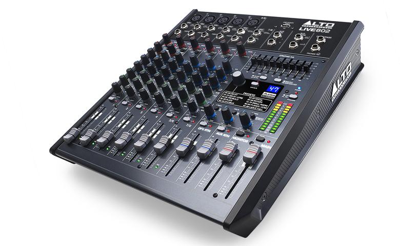 Bàn mixer Alto Live 802 được thiết kế hiện đại