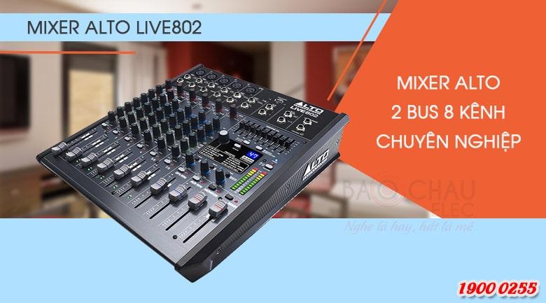 Thiết kế bàn mixer Alto ấn tượng