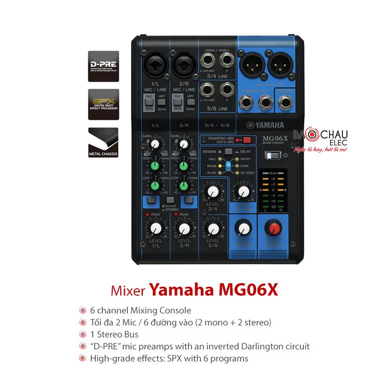 Bàn mixer Yamaha hạn chế hú rít