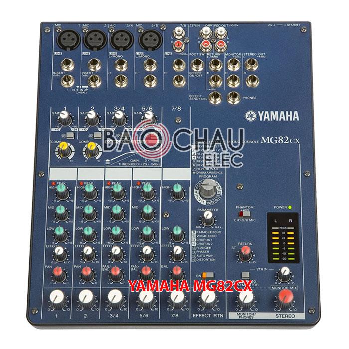 Bàn mixer yamaha MG82 CX hàng chính hãng, giá rẻ