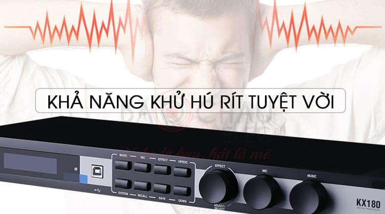 Mixer karaoke JBL KX180 (Ba Sao) có khả năng chống hú tuyệt vời