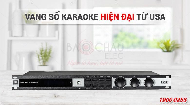 Mixer karaoke JBL KX180 thiết kế hiện đại, bắt mắt