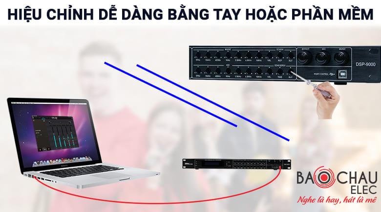 Vang cơ lai số BKSound DSP 9000 có khả năng tùy chỉnh bằng tay và bằng phần mềm trên máy tính linh hoạt