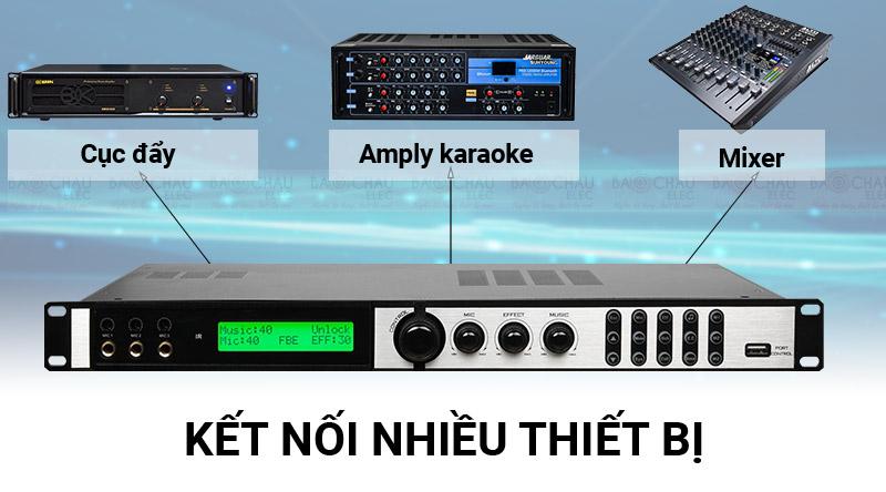 Vang số Bksound X6 Luxury hỗ trợ nhiều nguồn âm thanh