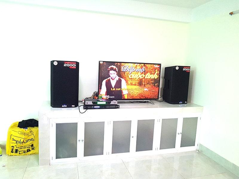 lắp đặt dàn karaoke loa Alto TS312