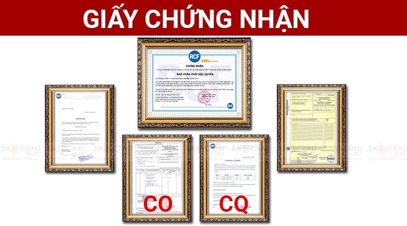 Giấy chứng nhận nhập khẩu CO, CQ của loa RCF
