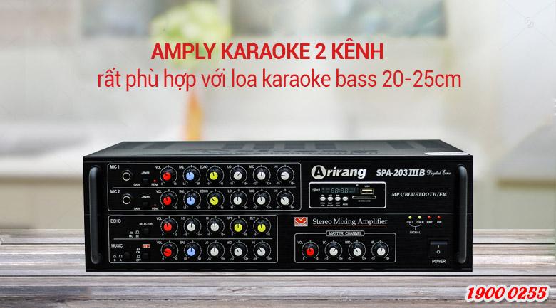 Amply karaoke Arirang 203IIIB công suất mạnh mẽ