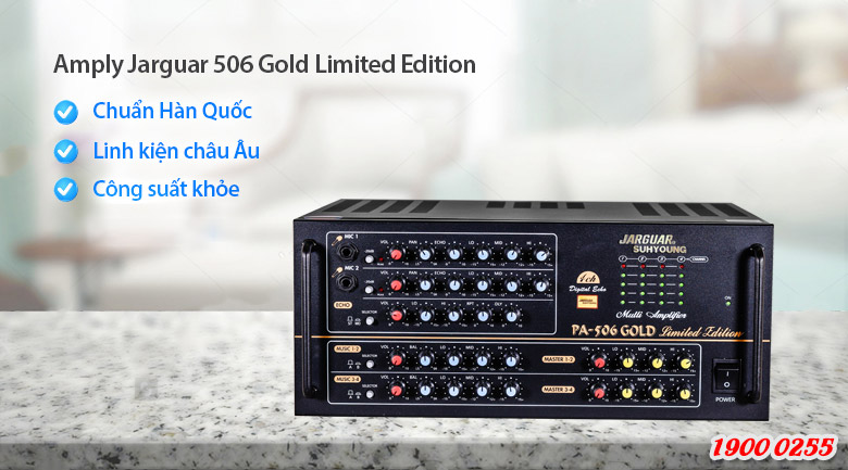 Amply Jarguar Suhyoung 506 Gold Limited Edition xử lý âm thanh cực hay