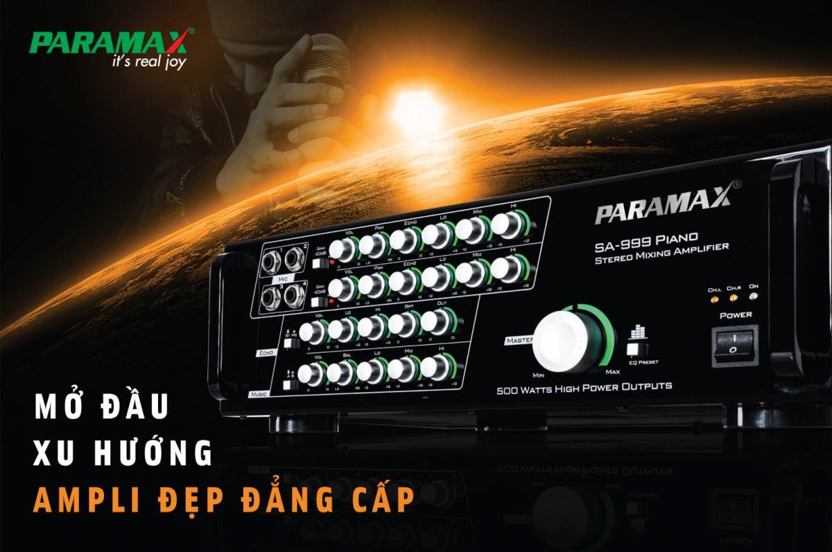 Amply karaoke paramax SA 999 piano xử lý âm thanh cực hay