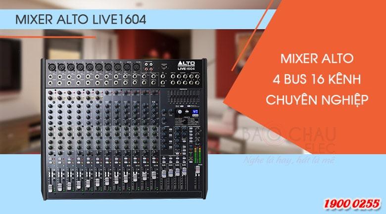 Bàn mixer Alto Live1604 được thiết kế gồm 16 kênh