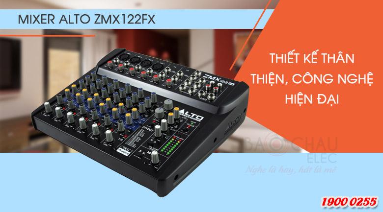 Bàn mixer ZMX122FX thiết kế gồm 8 kênh