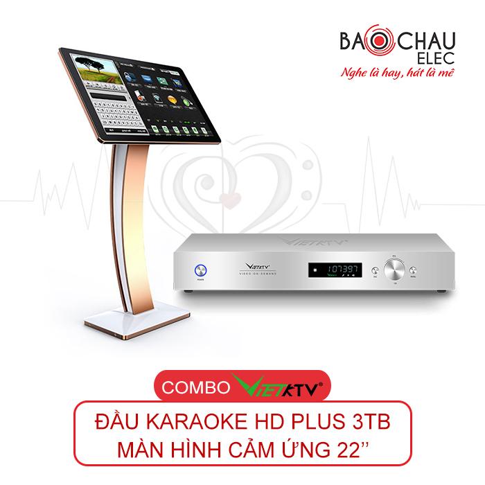 Combo VietKTV HD Plus 3TB + Màn hình 22