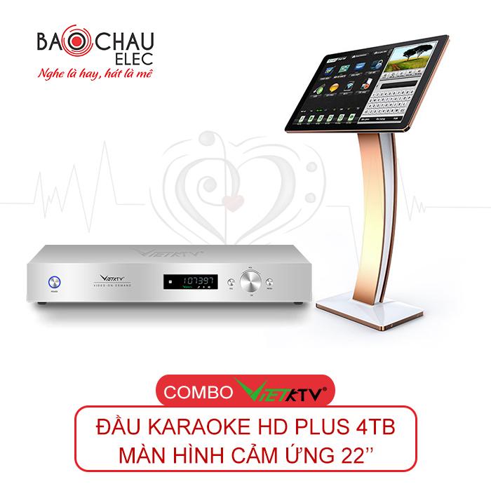 Combo VietKTV HD Plus 4TB + Màn hình 22
