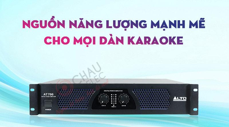Cục đẩy công suất Alto AT700 khuếch đại âm thanh sống động