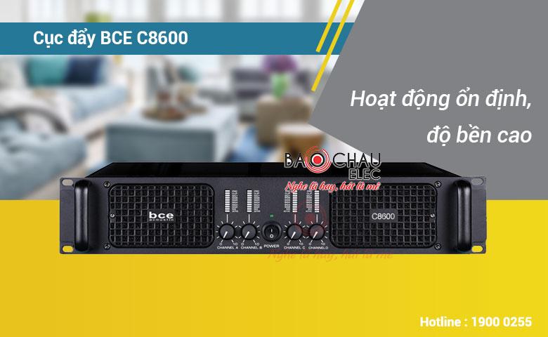 Cục đẩy công suất BCE C8600 khuếch đại âm thanh mạnh mẽ