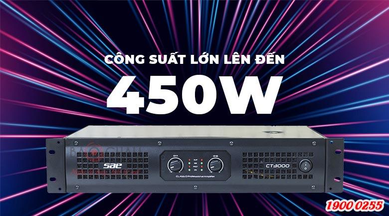Cục đẩy công suất SAE CT3000 cho công suất cực đại 450W