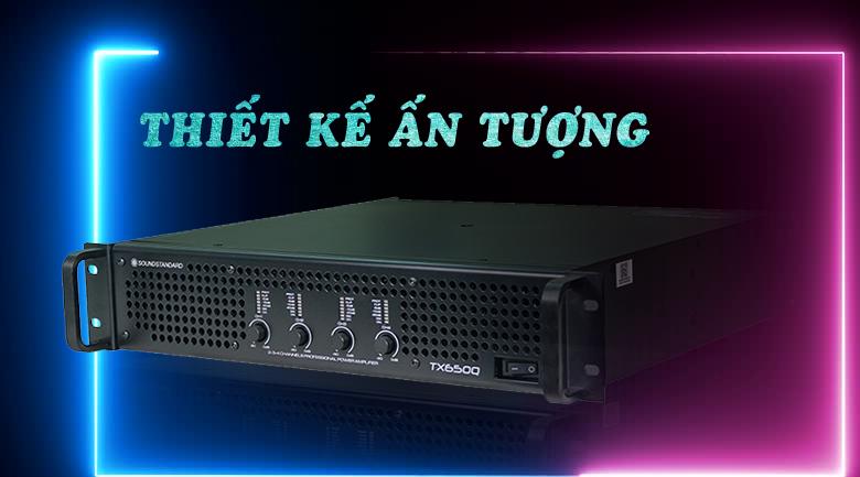 Cục đẩy công suất SoundStandard TX650Q tinh tế trong từng đường nét