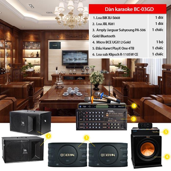 Dàn karaoke gia đình BC-03GD