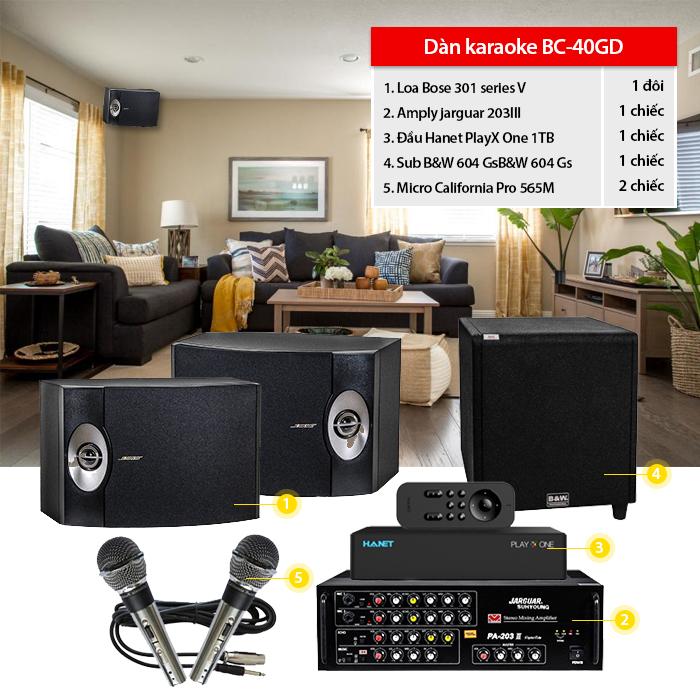 Dàn karaoke gia đình BC-40GD chính hãng, giá rẻ