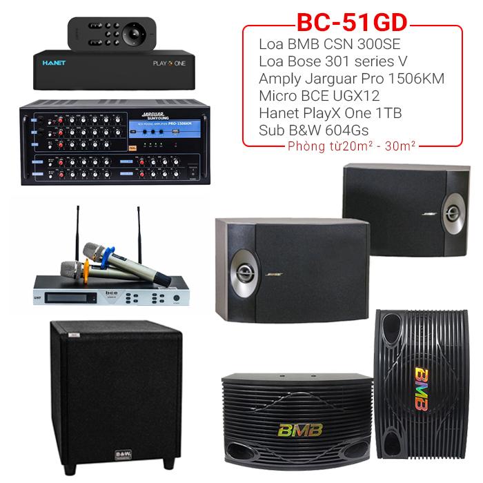 Dàn karaoke gia đình BC-51GD hát hay, giá tốt