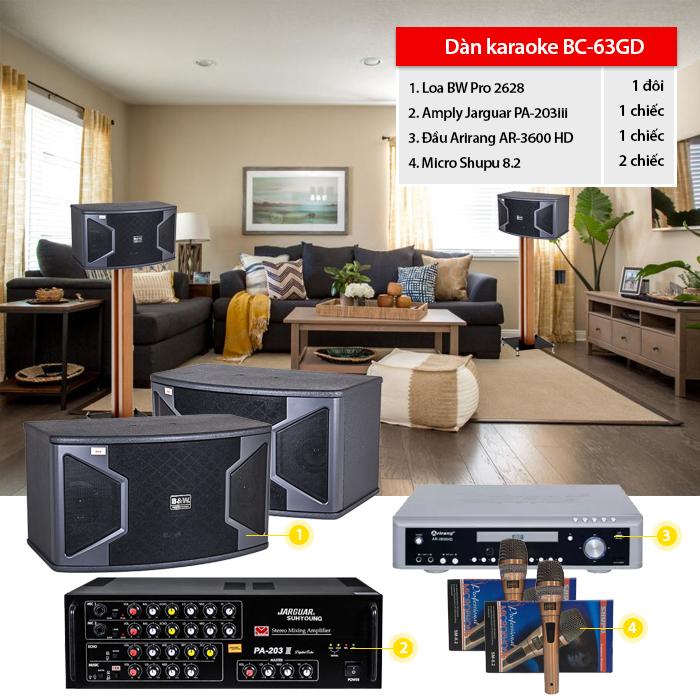 Dàn karaoke gia đình BC-63GD