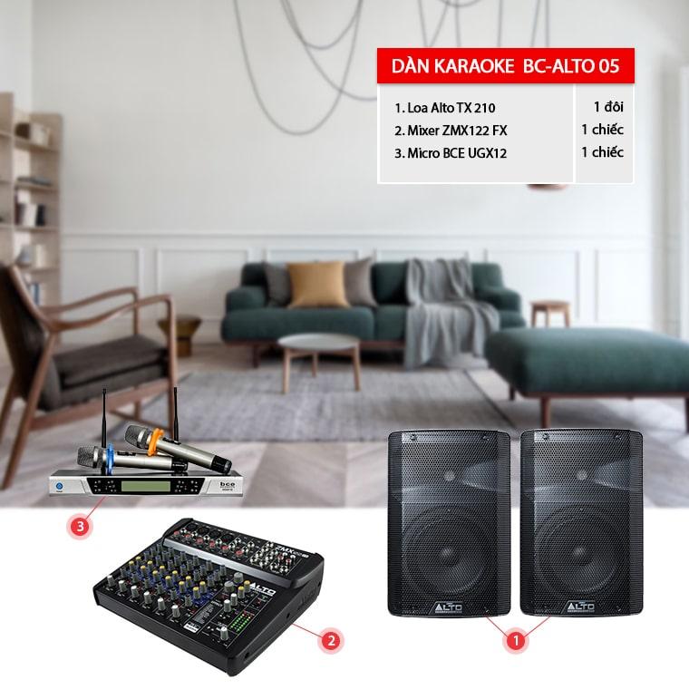Dàn karaoke giá rẻ BC-ALTO 05 phù hợp cho các phòng hát gia đình