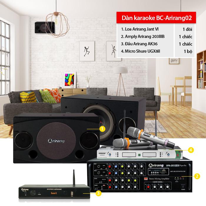 Dàn karaoke gia đình BC-Arirang02 giá tốt