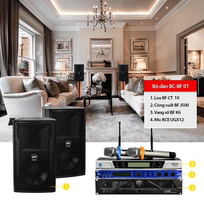 Dàn karaoke gia đình BC-BF01 chuyên dụng cho phòng khoảng 20m2