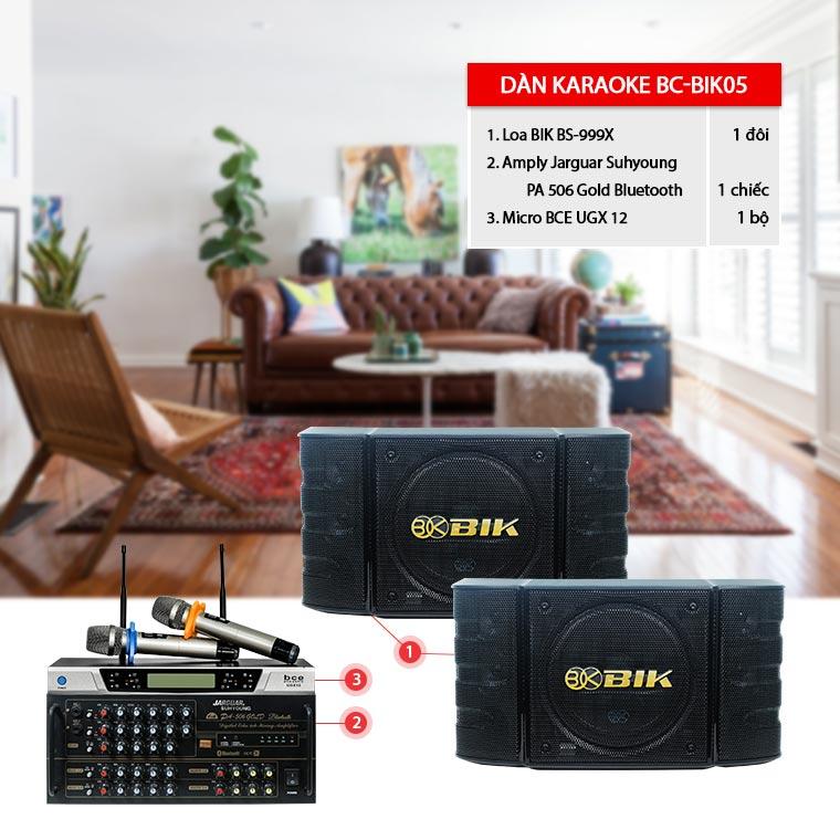 Dàn karaoke gia đình BC-BIK05 hát hay, giá rẻ