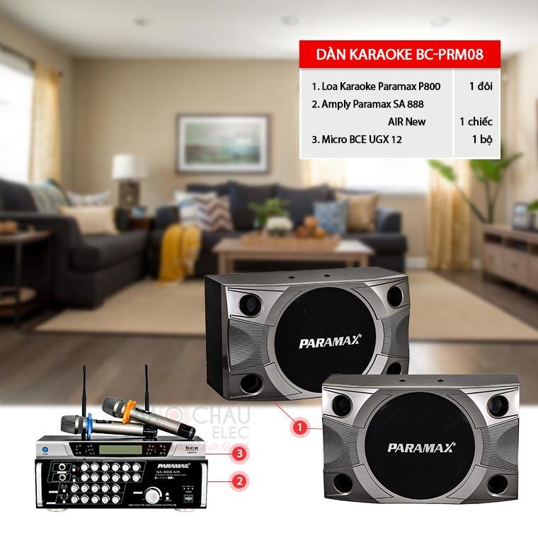 Dàn karaoke gia đình Paramax BC-PRM08 giá cực tốt