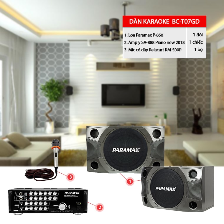 dàn karaoke gia đình BC- T07GD