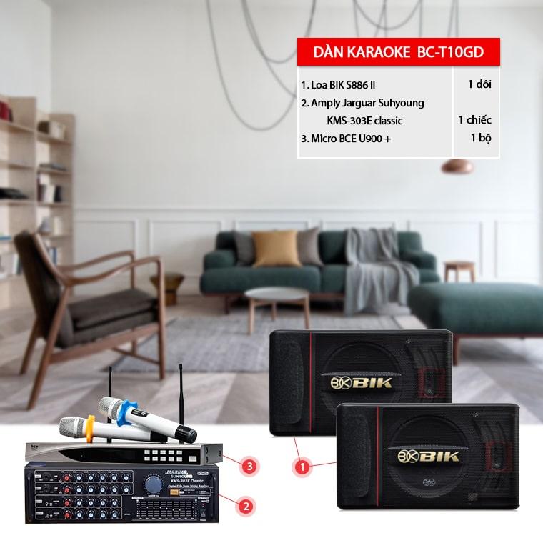 Dàn karaoke gia đình BC-T10GD hát hay, giá tốt