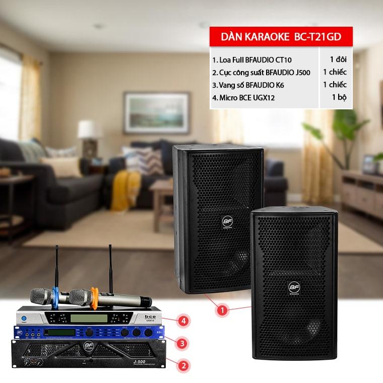 Dàn karaoke gia đình BC-T21GD