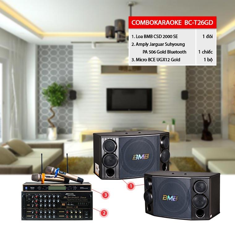 Dàn karaoke gia đình BC-T26GD