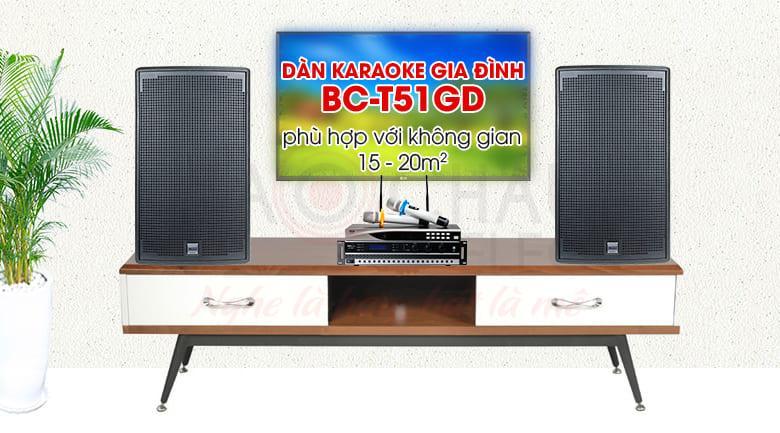 Bộ dàn karaoke gia đình BC- T51GD