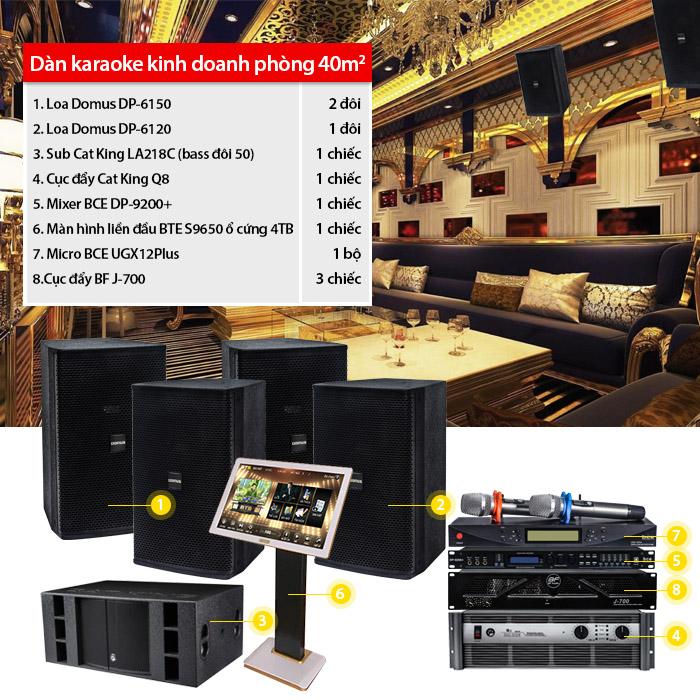 Dàn karaoke kinh doanh BC-06KD (40m2)