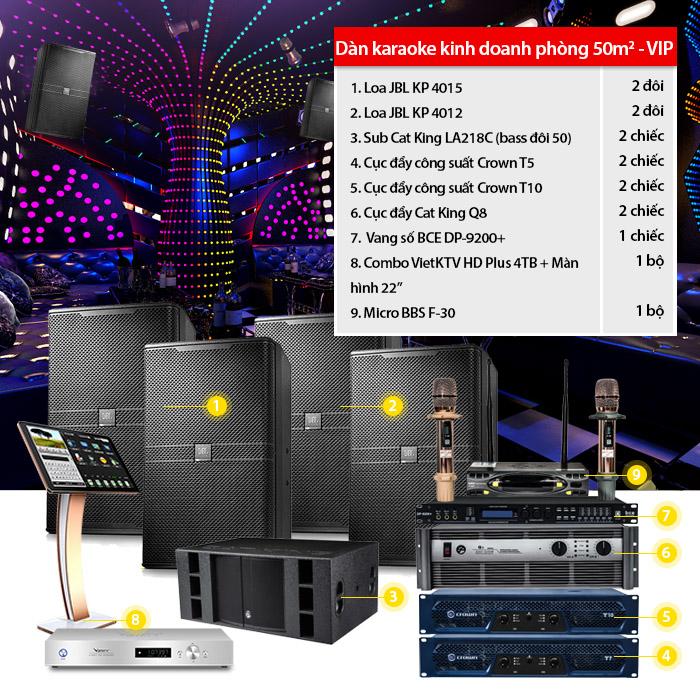 Dàn karaoke kinh doanh BC-09KD (50m2 VIP)