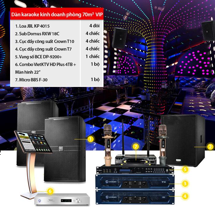 Dàn karaoke kinh doanh BC-11KD (70m2 VIP)