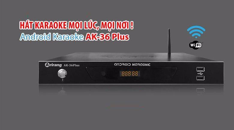 Đầu karaoke Arirang AK-36 trang bị nhiều tính năng mới