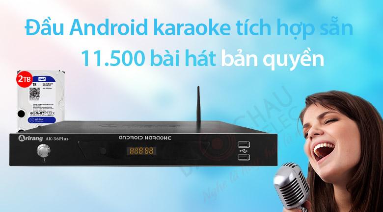 Đầu karaoke Arirang AK36 plus 2TB sở hữu kho bài hát khổng lồ
