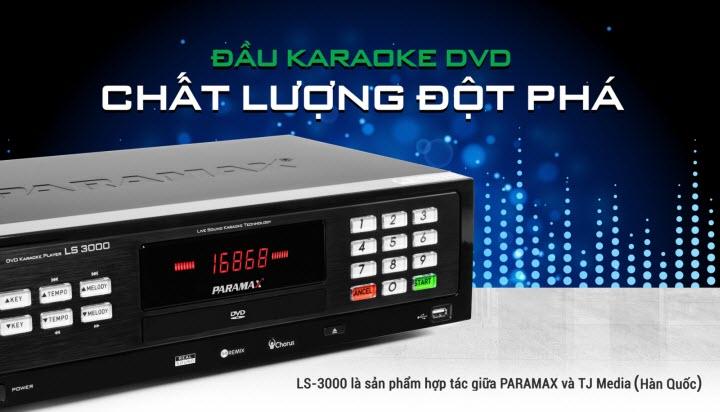 Đầu karaoke Paramax LS 3000 có khả năng lưu trữ dữ liệu, hình ảnh, âm thanh chất lượng cao