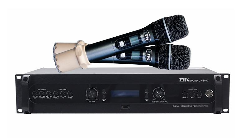 Đẩy liền vang kèm micro không dây BKsound DP8000 cho khả năng khuếch đại, xử lý âm thanh vượt trội