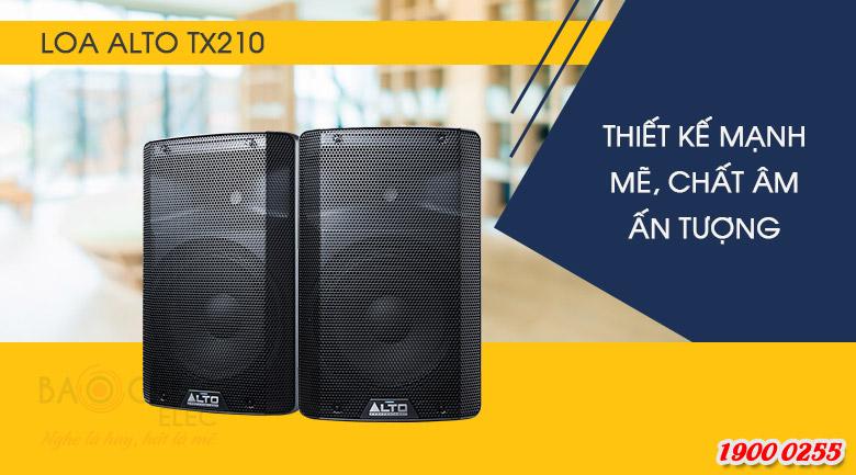 Loa Alto TX210 mang thiết kế hiện đại, đẹp mắt