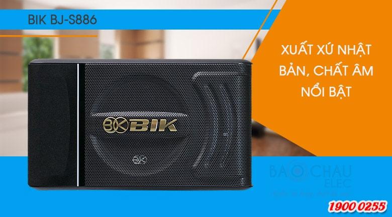 Loa karaoke BIK BJ-S886 sở hữu thiết kế sang trọng