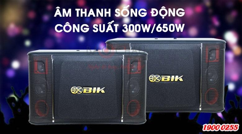 Loa karaoke BIK BJ-S968 hoạt động ở mức công suất cực đại 650W