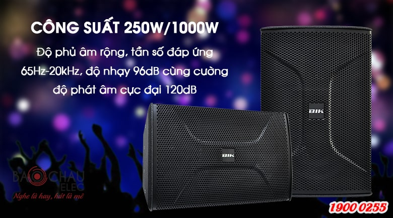 Loa karaoke BIK BSP 810 công suất mạnh mẽ