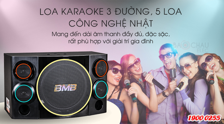 Loa karaoke BMB CSE 310SE sử dụng bass 25cm